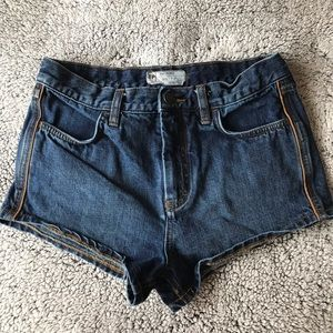 Free People High Waisted Denim Shorts